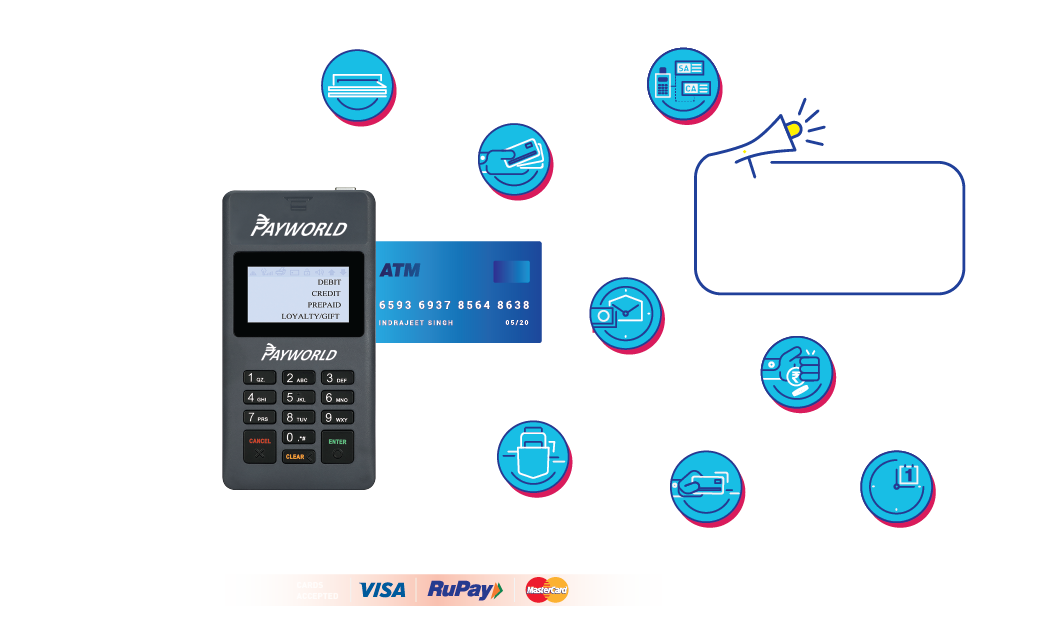 mPOS & mini ATM Machine / card swipe machine