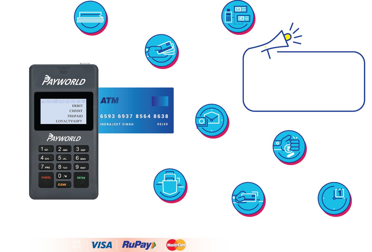 mPOS & mini ATM Machine / card swipe machine